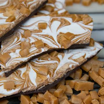 Double Chocolate Salted Caramel Bark