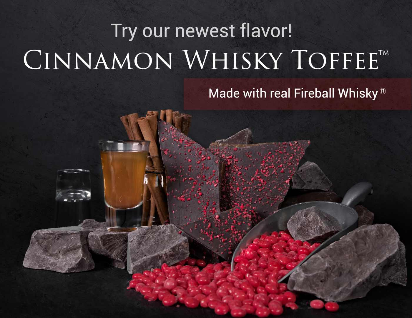 Cinnamon Whisky Toffee. The perfect gift for loved ones that like some spice!