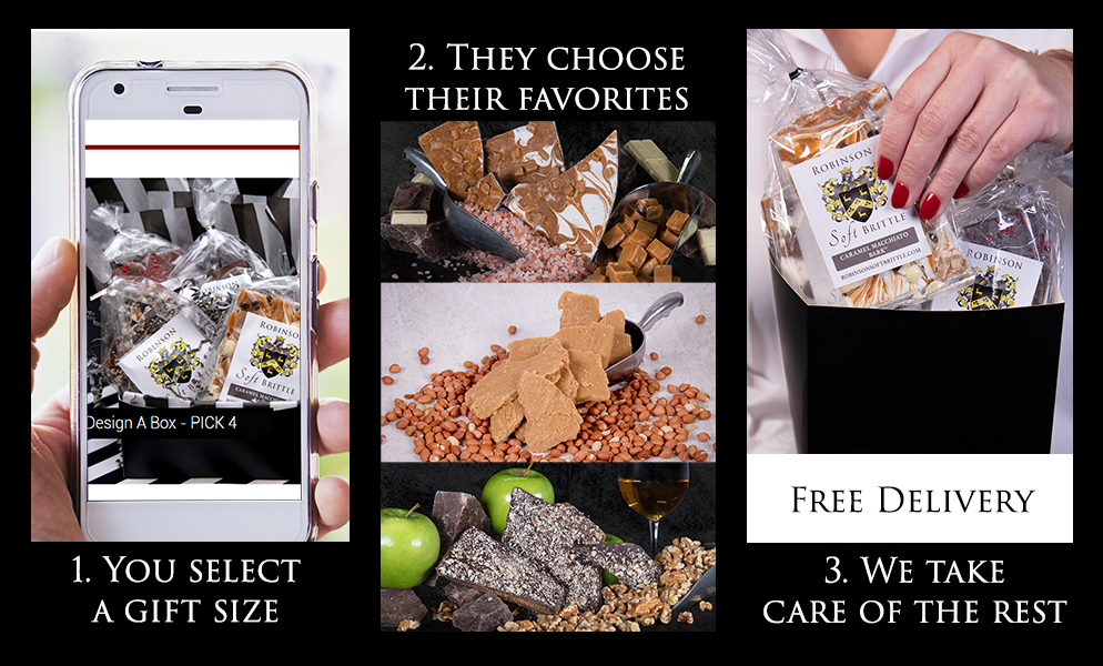 How It Works: 1. Pick a Gift. 2. They pick their favorites. 3. We take care of the rest.